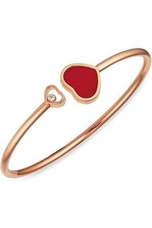 Chopard Bracelets - Happy Hearts 18K Rose , Diamond & Red Stone Bangle