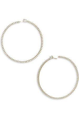Anita 18K & Diamond Pavé Bardot Hoop Earrings