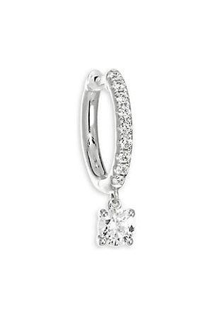 Anita Single 18K & Brilliant Cut Diamond Huggie Hoop Earring