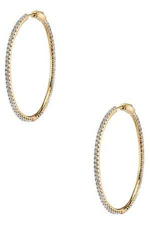 Anita Fonda 18K & Diamond Hoop Earrings