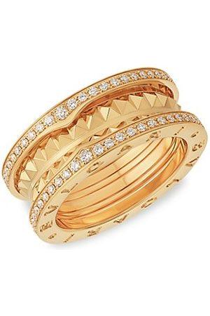 Bvlgari B.zero1 Rock 18K Yellow & Diamond 2-Band Ring