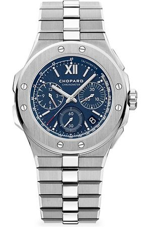 Chopard Watches - Alpine Eagle Chronograph Stainless Steel & Blue-Dial Bracelet Watch
