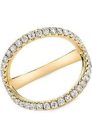 Anita 18K Yellow & Diamond Arc Ring