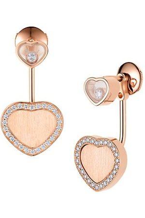 Chopard X 007 Happy Hearts - Golden Hearts 18K Rose & Diamond Pavé Limited Edition Drop Earrings