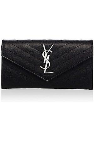 Saint Laurent Women Wallets - Large Monogram Matelassé Leather Flap Wallet