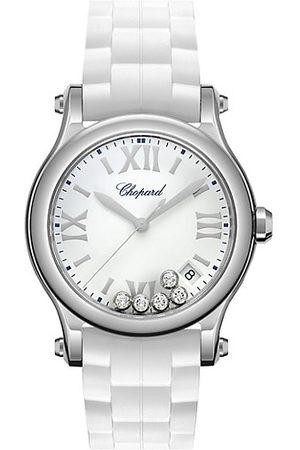 Chopard Happy Sport Stainless Steel, Diamond & Rubber-Strap Watch