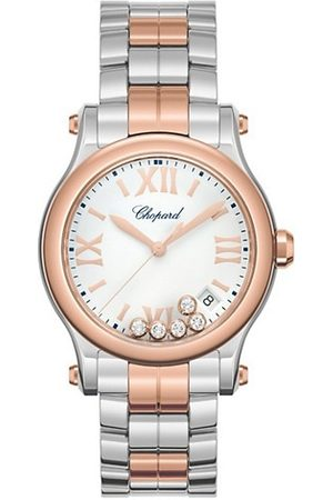 Chopard Watches - Happy Sport 18K Rose , Stainless Steel & Diamond Bracelet Watch