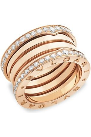 Bvlgari B.zero1 18K Rose & Diamond Ring