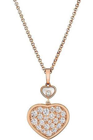Chopard Happy Hearts 18K Rose & Diamond Pendant Necklace