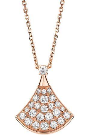 Bvlgari Divas' Dream 18K Rose & Diamond Pavé Pendant Necklace