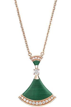 Bvlgari Divas' Dream 18K Rose , Malachite & Diamond Pendant Necklace