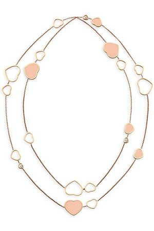 Chopard Necklaces - Happy Hearts 18K Rose & Diamond 2-Strand Station Necklace