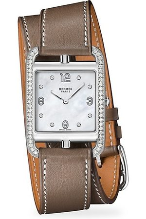 Hermès Watches - Cape Cod 29MM Diamond, Stainless Steel & Leather Strap Watch