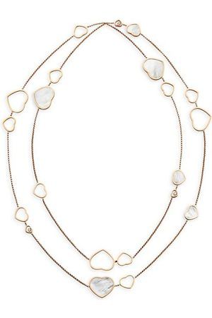 Chopard Happy Hearts 18K Rose , Diamond & Mother-Of-Pearl 2-Strand Station Necklace