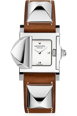 Hermès Médor 23MM Stainless Steel & Leather Strap Watch