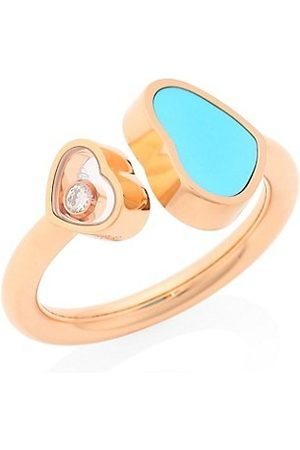 Chopard Rings - Happy Hearts 18K Rose , Diamond and Turquoise Ring