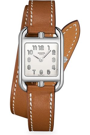 Hermès Cape Cod 23MM Stainless Steel & Leather Strap Watch
