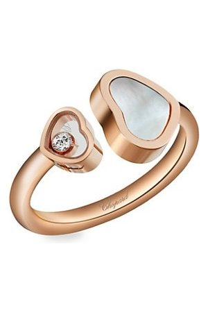 Chopard Happy Hearts 18K Rose , Diamond & Mother-Of-Pearl Ring