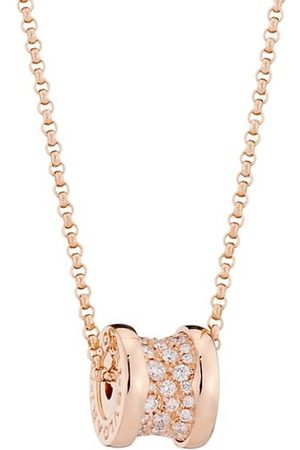 Bvlgari B.zero1 18K Rose & Pavé Diamond Necklace