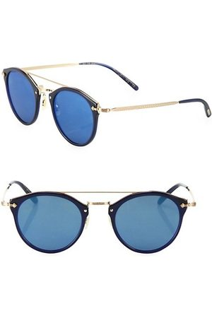Oliver Peoples Sunglasses - Remick 50MM Round Mirrored Sunglasses