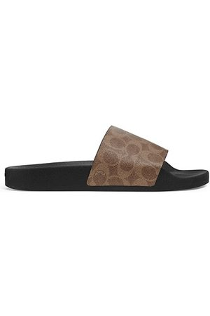 Coach Siganture Monogram Printed Slide Sandals