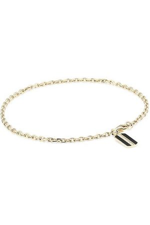 Sydney Evan 14K Yellow & Pavé Diamond Rectangle Pendant Bracelet