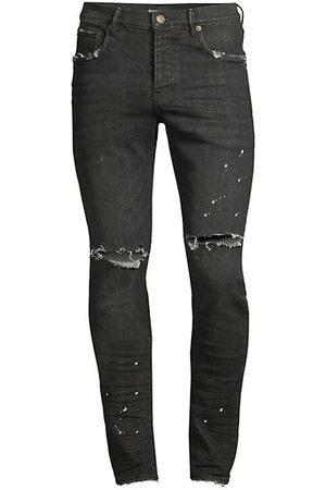 Purple Brand P001 Slim-Fit Over Spray Jeans