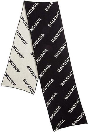 Balenciaga Logo Wool Scarf