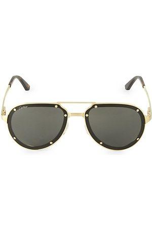 Cartier 60MM Aviator Titanium Sunglasses