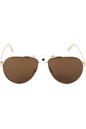 Cartier Men Sunglasses - 62MM Round Metal Sunglasses