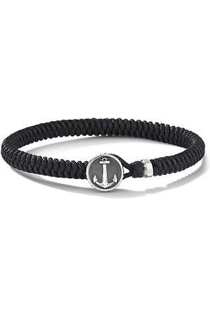 David Yurman Maritime Sterling Silver & Black Nylon Anchor Station Bracelet