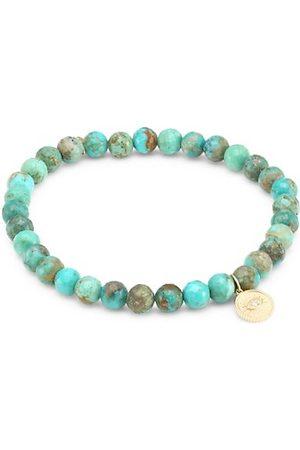 Sydney Evan Turquoise, 14K Gold, & Diamond Marquis Eye Bracelet