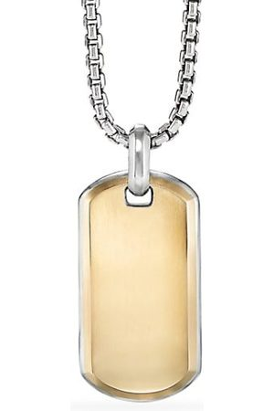 David Yurman Men Necklaces - Streamline® 18K Yellow Gold & Sterling Silver Tag Pendant
