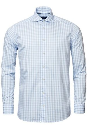 Eton Men Casual - Contemporary-Fit Gingham Check Soft Casual Shirt