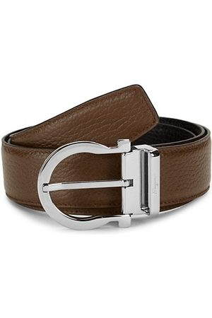 Salvatore Ferragamo Men Belts - Gancio Reversible Leather Belt