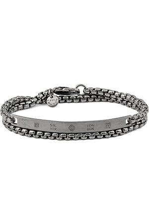 Tateossian Chain Identity Double-Wrap Chain ID Bracelet