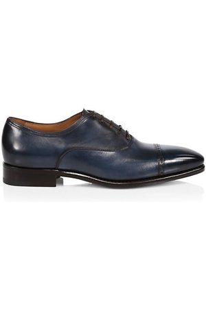 Paul Stuart Monarch Leather Cap Toe Oxfords