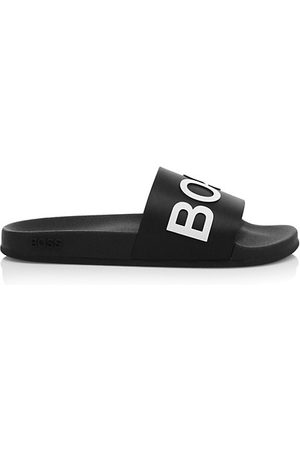 HUGO BOSS Men Sandals - Boss Logo Slide Sandals