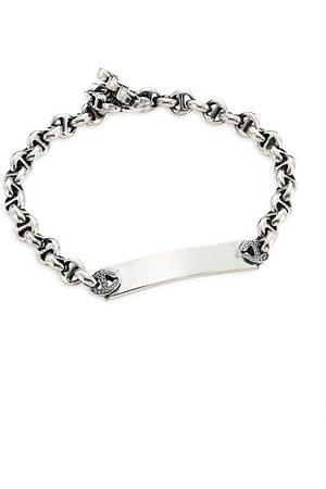 Hoorsenbuhs Open-Link Sterling & Diamond Monogram Bracelet