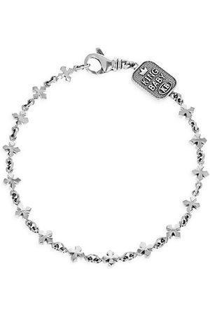 King Baby Studio Men Bracelets - New Classics Sterling Small Cross Chain Bracelet