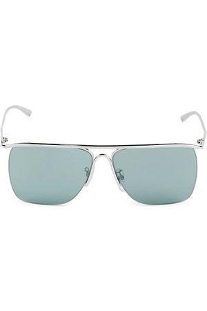 Balenciaga Men Sunglasses - 61MM Rectangular Metal Sunglasses