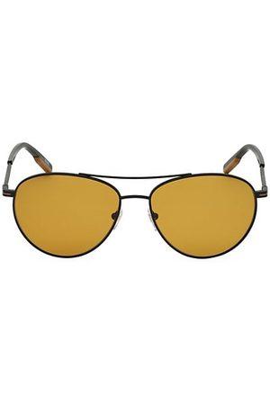 Z Zegna 58MM Polarized Metal Round Aviator Sunglasses