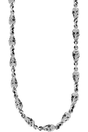 King Baby Studio New Classics Skull Sterling Chainlink Necklace