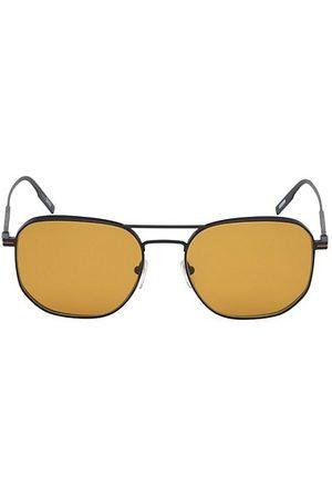 Z Zegna 56MM Metal Round Aviator Sunglasses