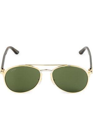 Cartier Men Sunglasses - 56MM Aviator Metal Sunglasses