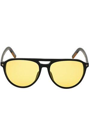 Z Zegna 57MM Polarized Round Aviator Sunglasses