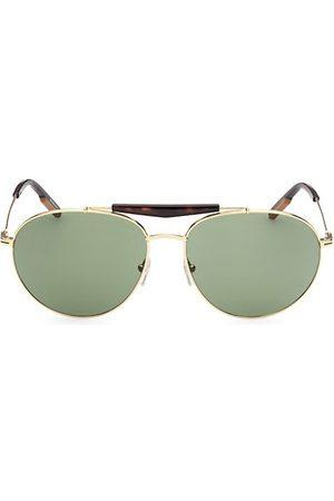 Z Zegna Men Sunglasses - 61MM Metal Round Sunglasses