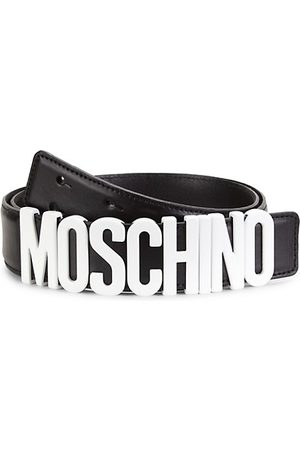 Moschino Men Belts - Matte Logo Leather Belt