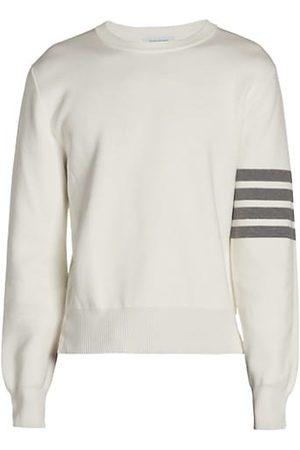 Thom Browne Stripe Milano Stitch Cotton Sweatshirt