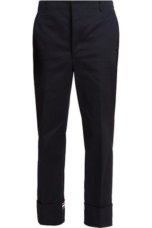 Thom Browne Men Skinny Pants - Straight-Leg Cuffed Trousers